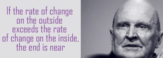rate of change outside exceeds inside jack welch